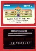 """VIETNAM 1991 VT-01 Blue """"Ho Chi Minh City Post"""" CN:1VTNA Rare (10.000ex) UNUSED - Vietnam"""