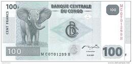 Congo - Pick 98a - 100 Francs 2007 - Unc - Congo