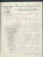 FACTURE DE 1904 THÉOPHILE PRALUS BRASSERIE DES CHEMINS DE FER À ROANNE : - France