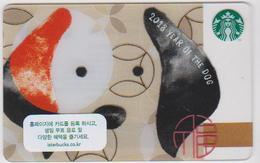 GIFT CARD - STARBUCKS - SOUTH KOREA - 6145 - 2018 YEAR OF THE DOG - ZODIAC - HOROSCOPE - Gift Cards