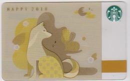 GIFT CARD - STARBUCKS - SOUTH KOREA - 6149 - 2018 YEAR OF THE DOG - ZODIAC - HOROSCOPE - Gift Cards