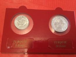 Lot De 2 Pièces Turquie Voir Le Scan - Monedas & Billetes