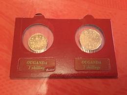Lot De 2 Pièces  Ouganda  Voir Le Scan - Lots & Kiloware - Coins