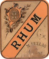 77Aa  Etiquette De Rhum M. Rulland à Digne (04) - Rhum