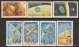 Cambodia 1984 Mi# 560-566 Used - Space Exploration - Space