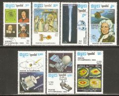 Cambodia 1986 Mi# 783-789 Used - Halley's Comet / Space - Space