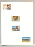 Dominica #1564-1567 School, Education, Microscope 4v Imperf Proofs In Folder - Dominica (1978-...)