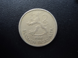 FINLANDE : 1 MARKKA  1984 N  Tranche B *  KM 49a    TTB - Finland