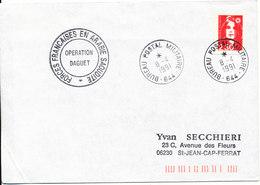 France Cover France Forces Francaises En Arabie Saoudite Operation DAGUET Bureau Postal Militaire 8-4-1991 (644) - Postmark Collection (Covers)