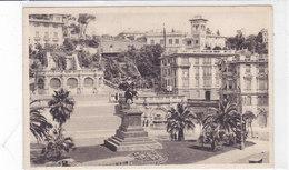 CARD GENOVA PIAZZA TOMMASEO -FP-V VIAGGIATA FRANCOBOLLO ASPORTATO-2-0882- 28023 - Genova (Genoa)