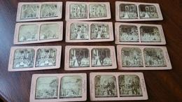 INDE 11 PHOTOS PHOTO STÉRÉO CIRCA 1880 SYSTEME A LA LUMIERE B.K. PARIS THEATRE /FREE SHIPPING REGISTERED - Fotos Estereoscópicas