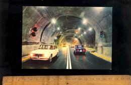 COURMAYEUR ENTREVES : Il Nuovo Traforo Del M Bianco Nouveau Tunnel Du Mont Blanc / Auto Alfa Romeo Giulia 1967 - Italia