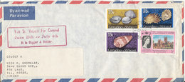 Grenadines St. Vincent Air Mail Cover Sent To USA  Sea Shells Stamps - St.Vincent & Grenadines
