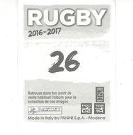 Panini Rugby 2016-2017 N° 26  ARNOLD Saison 2015-2016 - Panini