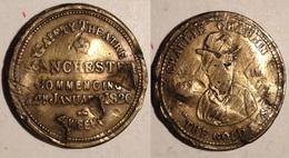 TOKEN JETON GETTONE CHARLIE CHAPLIN MANCHESTER COMMERCING 1926 - Monétaires/De Nécessité