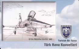 TURKEY(chip) - Airplane, RF-5A Freedom Fighter 1965(50 Units), Used - Turkey