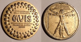 TOKEN JETON GETTONE MEDAGLIA CINQUANTENARIO DELLA FONDAZIONE AVIS 1977 - Monétaires/De Nécessité