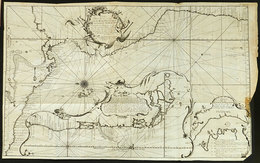 74 AMERICA: Old Map Of The Pacific Ocean And Coasts Of America, With Minor Defects, Very - Unclassified
