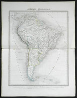 75 SOUTH AMERICA: Old French Map Of South America, Large Size (43 X 34 Cm), VF - Unclassified
