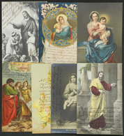 568 ARGENTINA: 7 Postcards With Autographs Of Priests And Other Persons Of The Religious - Autographs