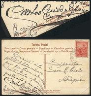 582 ARGENTINA: GUIDO Y SPANO Carlos (1827-1918), Poet, Dedicated Autograph On Postcard Wi - Autographs