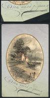 583 ARGENTINA: GUIDO Y SPANO Carlos (1827-1918), Poet, Dedicated Autograph On A Postcard - Autographs