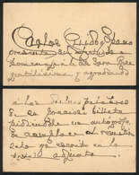 584 ARGENTINA: GUIDO Y SPANO Carlos (1827-1918), Poet, Dedicated Autograph On A Greeting - Autographs