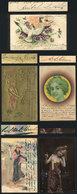 587 ARGENTINA: 5 Postcards With Autographs Of Famous Persons Of Early XX Century (for Exa - Autographs