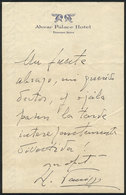 597 ARGENTINA: PANIZZA Hector: Composer And Conductor, His Dedicated Autograph On A Lette - Autographs
