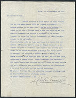 599 ARGENTINA: PANIZZA Hector: Composer And Conductor, Letter Written In 1947 To His Frie - Autographs