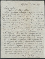 600 ARGENTINA: PANIZZA Hector: Composer And Conductor, Manuscript Letter Written In 1947 - Autographs