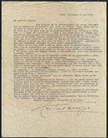 601 ARGENTINA: PANIZZA Hector: Composer And Conductor, Letter Written In 1948 To His Frie - Autographs