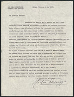 603 ARGENTINA: PANIZZA Hector: Composer And Conductor, Letter Written In 1950 To His Frie - Autographs