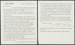 604 ARGENTINA: PANIZZA Hector: Composer And Conductor, Letter Written In Milano In 1950 T - Autographs