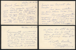 606 ARGENTINA: PANIZZA Hector: Composer And Conductor, 2 Manuscript Letters Written In 19 - Autographs