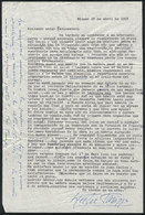 607 ARGENTINA: PANIZZA Hector: Composer And Conductor, Letter Written In 1958 To His Frie - Autographs