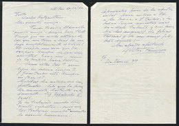 609 ARGENTINA: PANIZZA Hector: Composer And Conductor, Manuscript Letter Written In Milan - Autographs