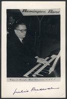 613 ARGENTINA: PERCEVAL Julio (1903-1963), Argentine Musician And Composer Of Belgian Ori - Autographs