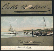 615 ARGENTINA: RICCHERI Pablo, Minister Of War, His Autograph On A Postcard With View Of - Autographs