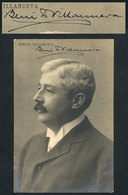 631 ARGENTINA: VILLANUEVA Benito (1854/1933), Politician, Senator, Director Of The Centra - Autographs