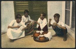 691 BURMA: Burma Boys Drinking Cool Drinks, Unused, Edited By The Institute Of Foreign Mi - Myanmar (Burma)