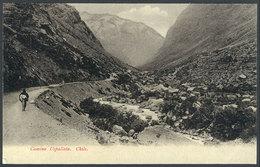 743 CHILE: Road To Uspallata, Andes Mountains, Ed.Eggers, Circa 1905, VF Quality! - Chile