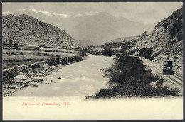 748 CHILE: Trans-Andean Railway, Train, Ed.Eggers, Circa 1905, VF Quality! - Chile