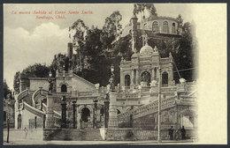 761 CHILE: SANTIAGO: New Entrace To The Santa Lucía Hill, Circa 1905, VF Quality! - Chile