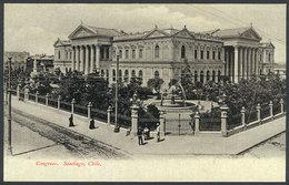 762 CHILE: SANTIAGO: National Congress, Ed. Eggers, Circa 1905, VF Quality! - Chile
