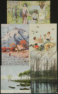 770 CHILE: 5 Postcards With Autographs Of Famous Persons Of Early XX Century (for Example - Autographs