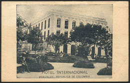 780 COLOMBIA: Hotel Internacional In Manizales, Dated 1923, VF Quality - Colombia