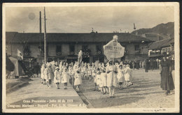 781 COLOMBIA: BOGOTÁ: Procession Of School Girls During The Marian Congress 18 JUL 1919, - Colombia