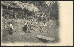 782 COLOMBIA: Woodpile By The Arato River, Circa 1905, VF Quality! - Colombia