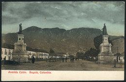 784 COLOMBIA: BOGOTA: Colón Avenue, Ed. Librería Colombiana, Dated 1908, VF Quality! - Colombia